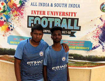 South Zone Inter University Football Tournament, on 21 - 29 Dec 2017 at Calicut University