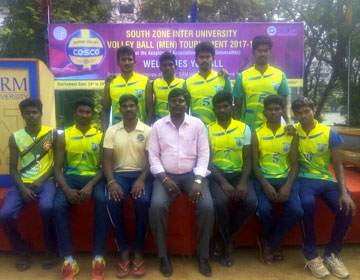South Zone Inter University Volleyball Tournament, on 24 - 29 Dec 2017 at SRM University