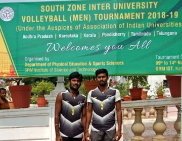South Zone Inter University Volleyball Tournament 2018-2019, on 09 - 14 Nov 2018