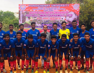 South Zone Inter University Football Tournament 2018, on 03 - 11 Dec 2018
