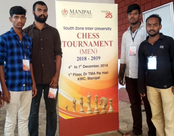South Zone Inter University Chess Tournament (Men) 2018 - 2019, on 04 - 07 Dec 2018
