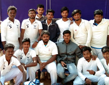South Zone Inter University Cricket Tournament, on 14 - 24 Jan 2019