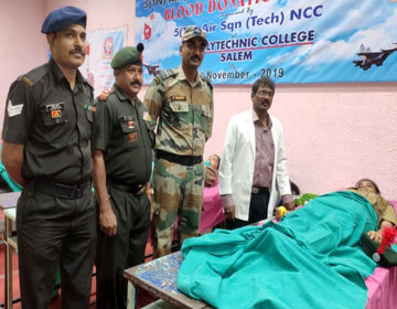 NCC Blood Donation Campaign, on 28 Nov 2019