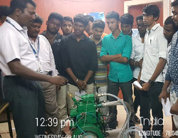 "One Day Skill Development Programme for Students, on ""VCR Engine - Performance and Emission testing"", on 28 Aug 2019"