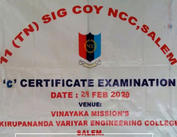 NCC 'C' Certificate Examination, on 29 Feb & 01 Mar 2020